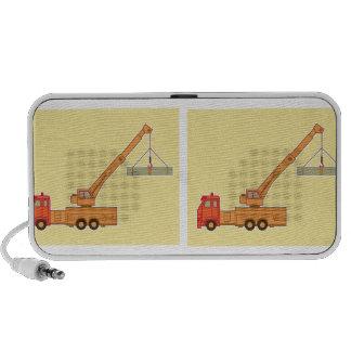 Transportation Orange Crane - Yellow Mini Speaker