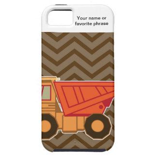 Transportation orange dump truck - brown iPhone 5 cover