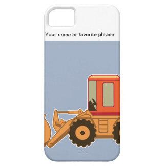 Transportation Orange Payloader - Blue iPhone SE/5/5s Case