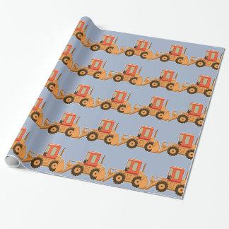 Transportation Orange Payloader - Blue Gift Wrap