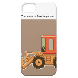 Transportation, Payloader Heavy Equipment - Brown iPhone SE/5/5s Case