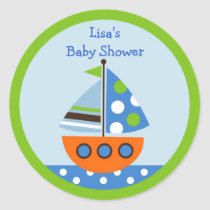 Transportation Sailboat Stickers Cupcake Toppers