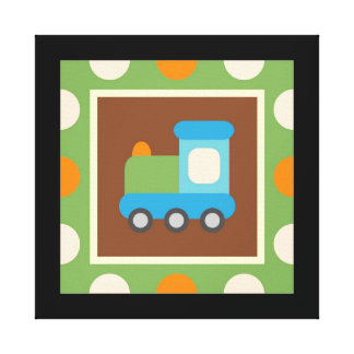 Transportation Wrapped Canvas Wall Decor for Kids Canvas Print