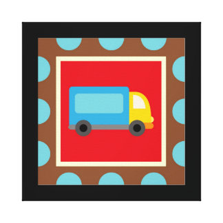 Transportation Wrapped Canvas Wall Decor for Kids