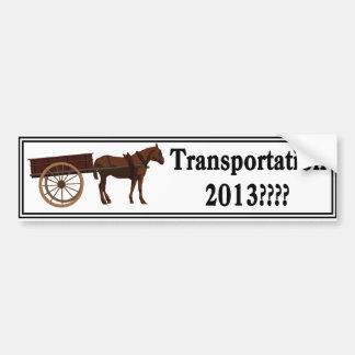 transportbumper car bumper sticker