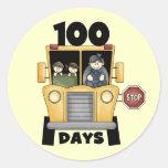 Transporte 100 días de camisetas y de regalos de pegatina redonda