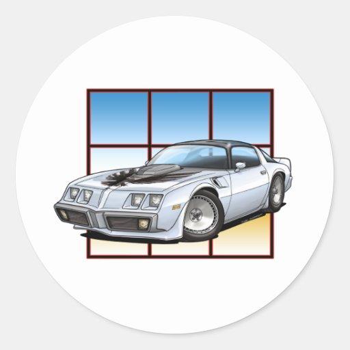 Transporte 1979 de Pontiac Pegatina Redonda