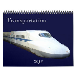transporte 2015 calendarios de pared