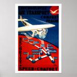 Transporte aéreo checoslovaco impresiones