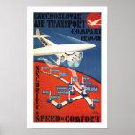 Transporte aéreo checoslovaco póster