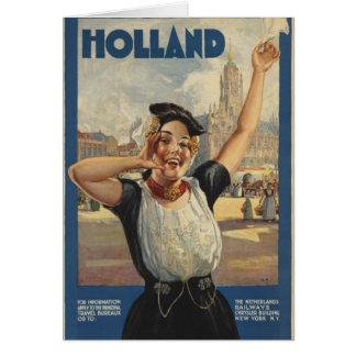 Transporte aéreo de Holanda del vintage Tarjeta De Felicitación