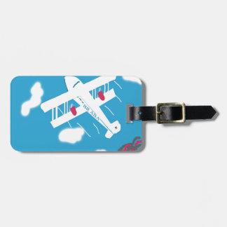 Transporte aéreo tropical del vintage etiqueta de maleta