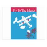 Transporte aéreo tropical del vintage postal