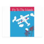 Transporte aéreo tropical del vintage tarjeta postal