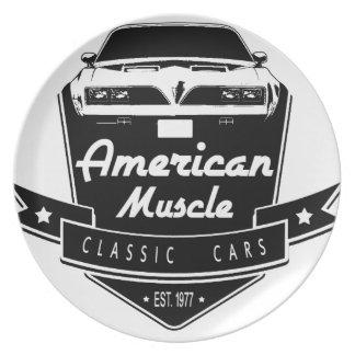 Transporte americano del músculo platos de comidas