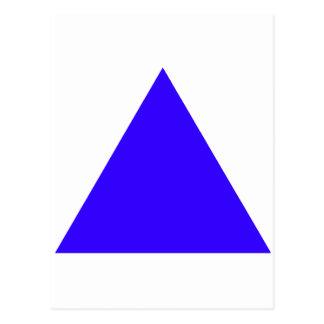 Transporte azul del triángulo los regalos de postal