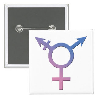 Transporte/botón del orgullo de Genderqueer Pin Cuadrada 5 Cm