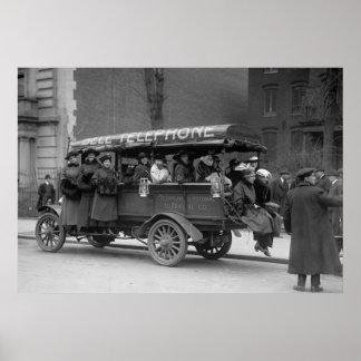 Transporte de chicas de teléfono, 1916 impresiones