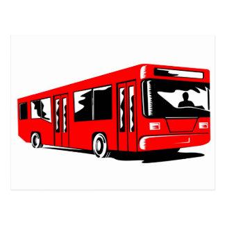 transporte de coche del bus turístico tarjetas postales