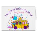Transporte de niños a su futuro tarjetón