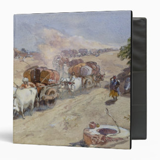 "Transporte del algodón, la India, 1862 (w/c sobre Carpeta 1 1/2"""