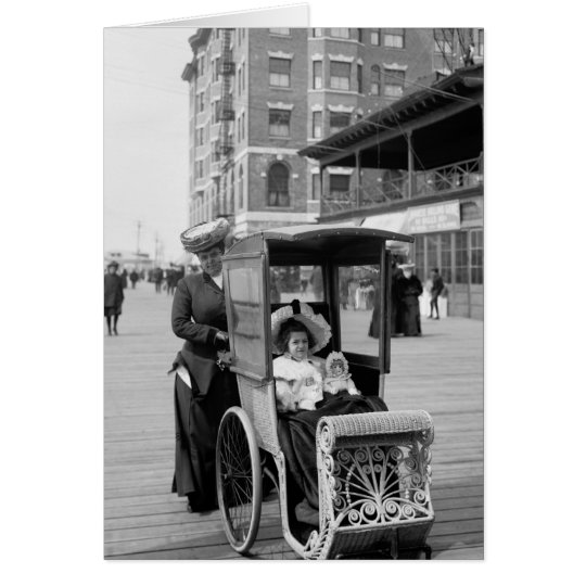 Transporte del paseo marítimo: 1905 tarjeta de felicitación