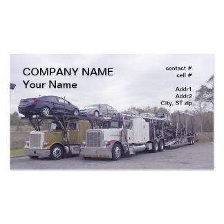 transporte del transportista del coche tarjetas de visita