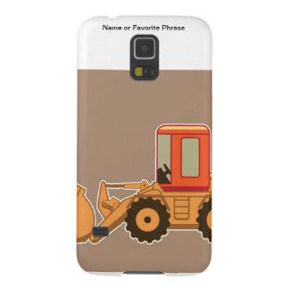 Transporte, equipo pesado de Payloader - Brown Fundas Para Galaxy S5