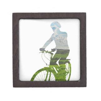 transporte verde, respetuoso del medio ambiente cajas de recuerdo de calidad