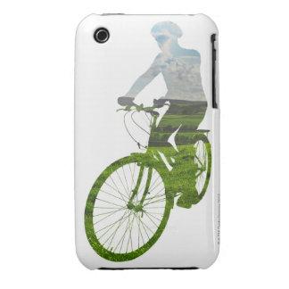 transporte verde respetuoso del medio ambiente Case-Mate iPhone 3 carcasas