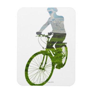 transporte verde, respetuoso del medio ambiente imán de vinilo