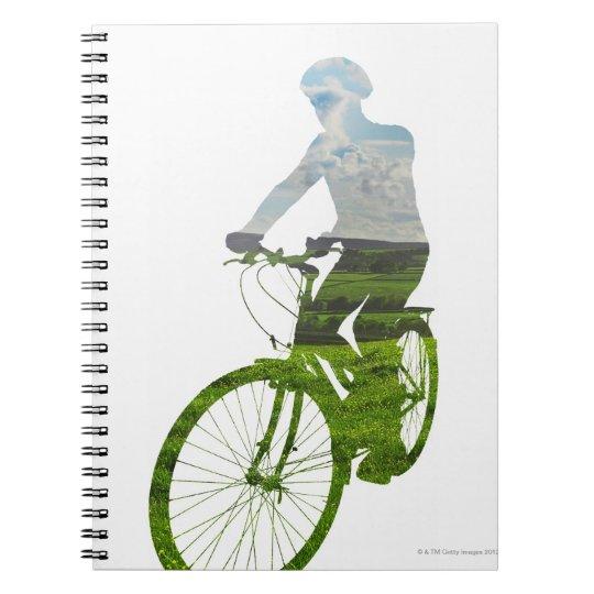 transporte verde, respetuoso del medio ambiente libreta
