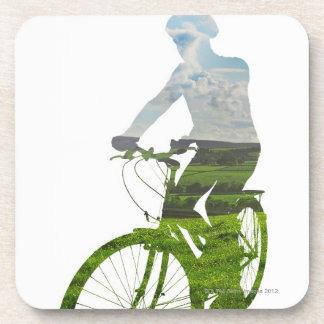 transporte verde, respetuoso del medio ambiente posavasos de bebidas