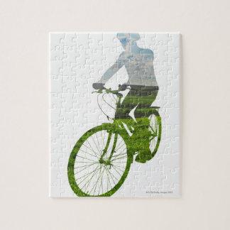 transporte verde, respetuoso del medio ambiente puzzle