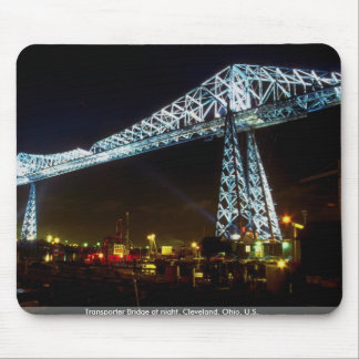 Transporter Bridge at night Cleveland Ohio U S Mousepad