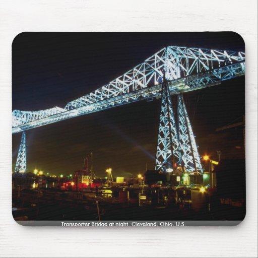 Transporter Bridge at night, Cleveland, Ohio, U.S. Mouse Pad