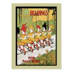 Transportes, anuncio 1896 de Nouveau del arte de l Postal