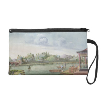 Transporting crates of tea (w/c on paper) wristlet purse