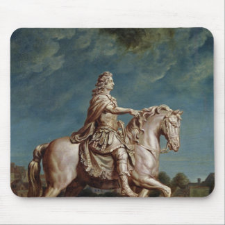 Transporting the Equestrian Statue of Louis XIV Mouse Pad