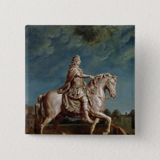 Transporting the Equestrian Statue of Louis XIV Pinback Button