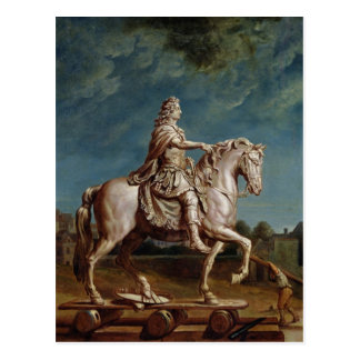 Transporting the Equestrian Statue of Louis XIV Postcard