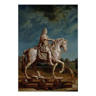 Transporting the Equestrian Statue of Louis XIV Poster