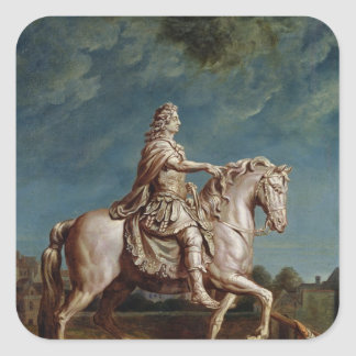 Transporting the Equestrian Statue of Louis XIV Square Sticker