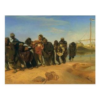 Transportistas de la gabarra de Ilya Repin- en el  Postales