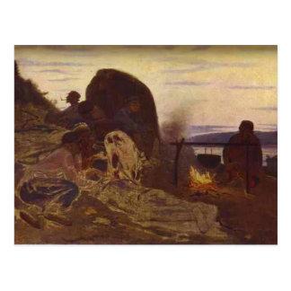 Transportistas de la gabarra de Ilya Repin- por la Tarjeta Postal