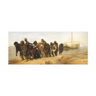 Transportistas de la gabarra en el Volga Impresión En Lienzo