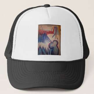 Transposed and Ciphered Perceptron Trucker Hat