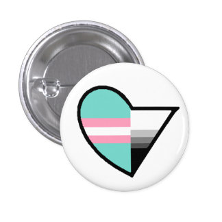 Transromantic Demisexual Button