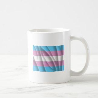 TRANSSEXUAL FLAG FLYING CLASSIC WHITE COFFEE MUG