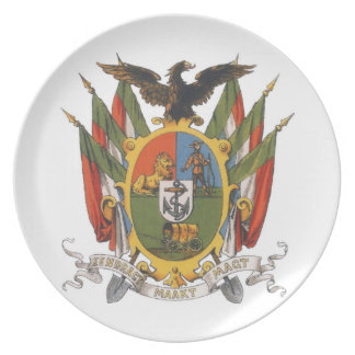 Transvaal Coat of Arms, South Africa: Pre-Boer War Plate